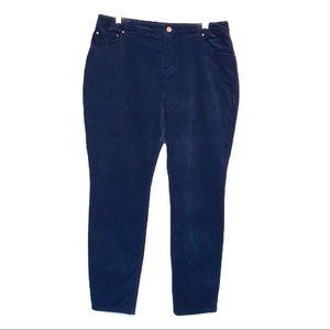 Boden The Soho Skinny Corduroy Navy Blue Jean